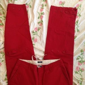 GAP Pants - Nautical red boat pants Gap stretch nice